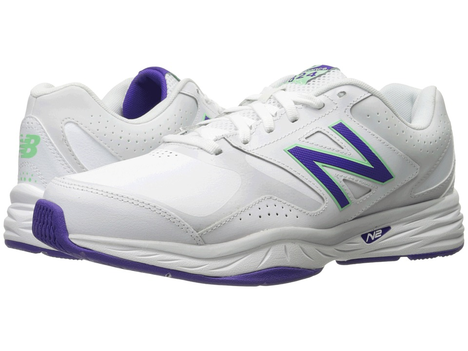 New Balance WX824v1 (White/Deep Violet) Women