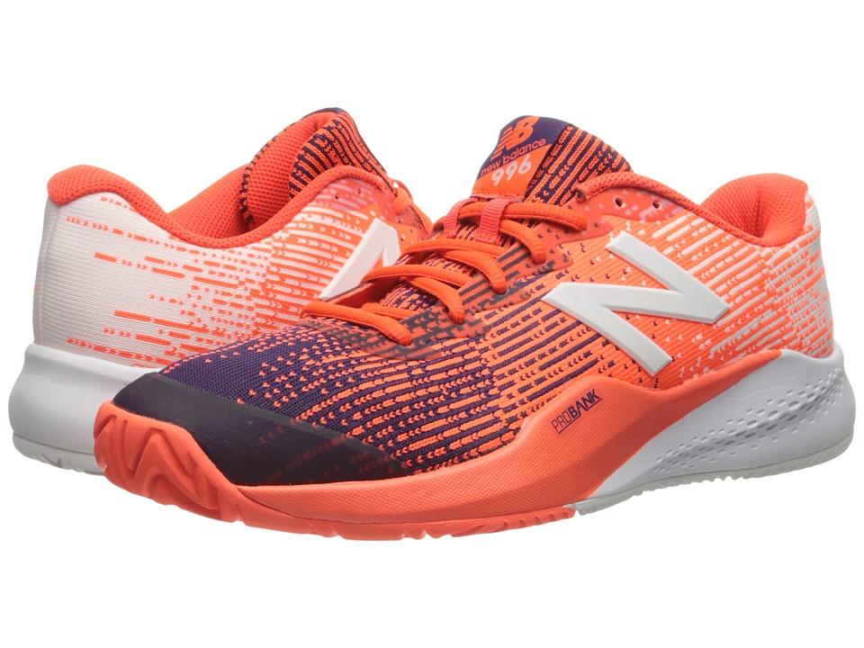 New Balance - MC996v3 (Black Plum/Alpha Orange) Mens Tennis Shoes