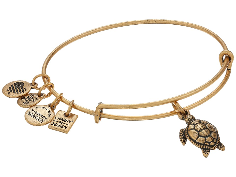 Alex and Ani - Charity By Design Turtle (Rafaelian Gold) Bracelet