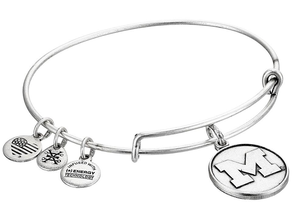 Alex and Ani - University of Michigan (Rafaelian Silver) Bracelet