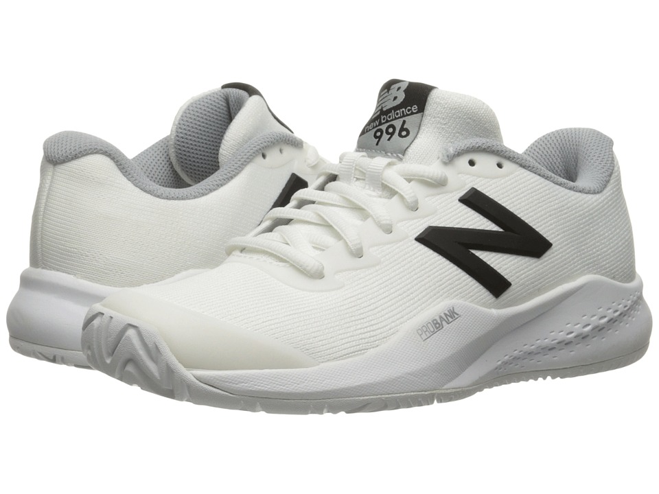 New Balance WC996v3 (White/Black) Women's Tennis Shoes