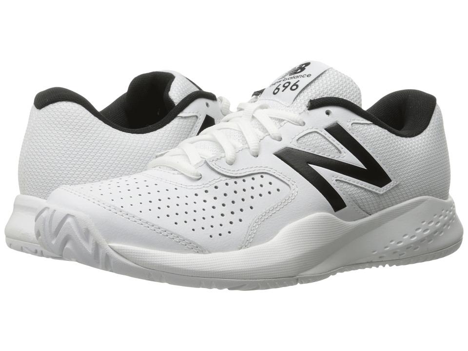 New Balance - MC696v3 (White/White) Mens Tennis Shoes