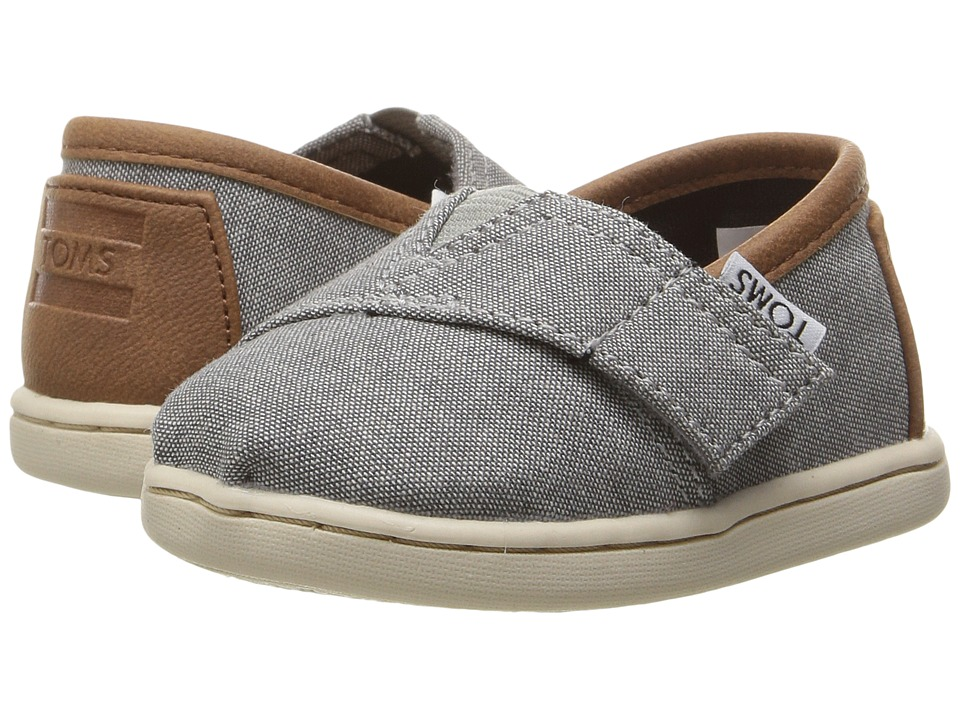 TOMS Kids - Seasonal Classics (Infant/Toddler/Little Kid) (Frost Grey Chambray/PU) Kids Shoes