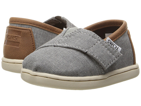 TOMS Kids Seasonal Classics (Infant/Toddler/Little Kid) - Frost Grey Chambray/PU