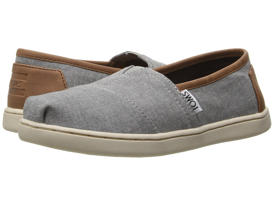 TOMS Kids Seasonal Classics (Little Kid/Big Kid) (Frost Grey Chambray/PU) Kids Shoes