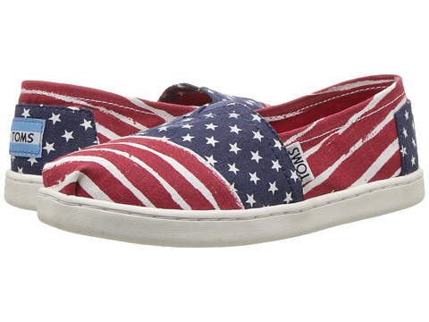TOMS Kids Seasonal Classics (Little Kid/Big Kid) - Red/Navy Americana