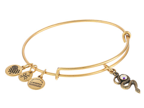 Alex and Ani Snake with Crystal - Rafaelian Gold