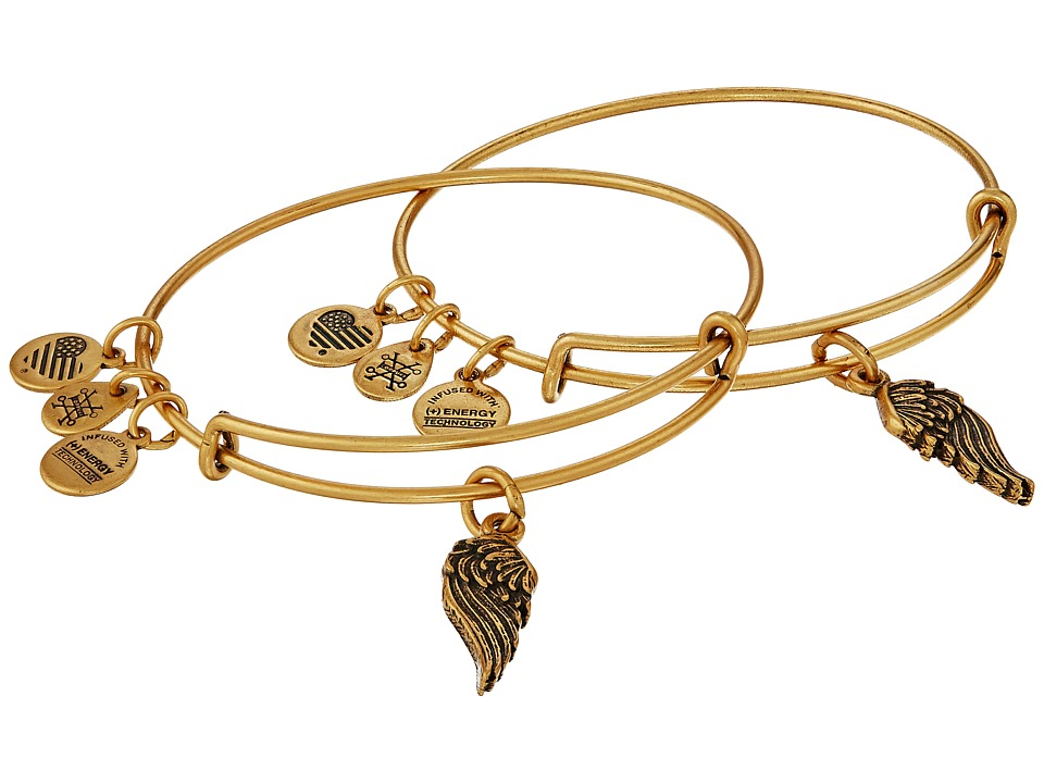 Alex and Ani - Wings Set of 2 (Rafaelian Gold) Bracelet