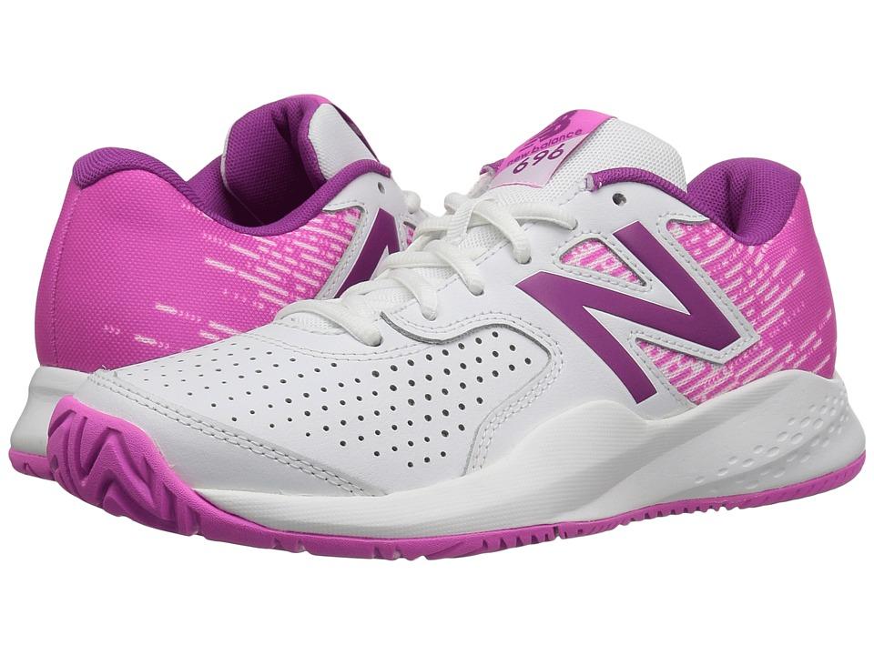 New Balance - WC696v3 (White/Fusion) Womens Tennis Shoes