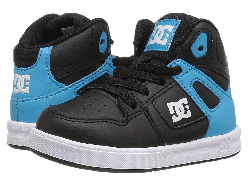 DC Kids Rebound UL (Toddler) (Black/Blue/White) Boys Shoes