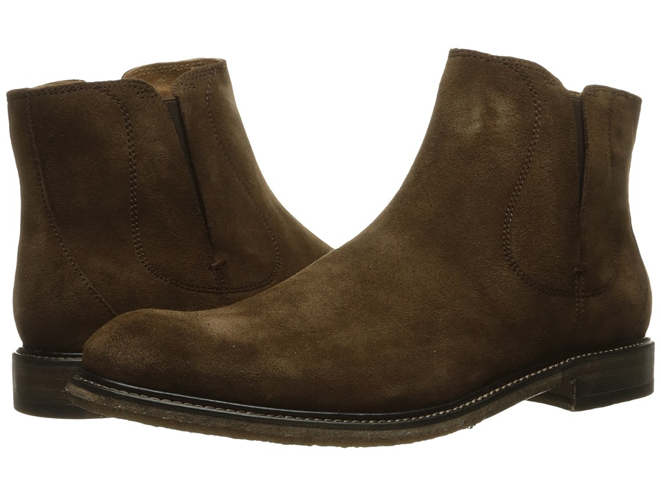 John Varvatos Sid Crepe Chelsea (Antique Brown) Men