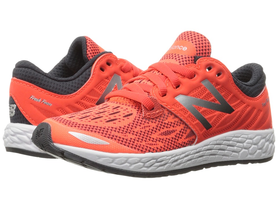 New Balance Kids Fresh Foam Zante v3 (Little Kid) (Orange/Grey) Boys Shoes