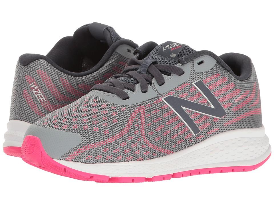 New Balance Kids - Vazee Rush v2 (Little Kid) (Grey/Pink) Girls Shoes