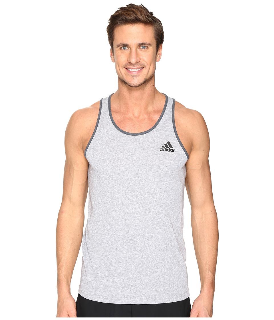 adidas - Ultimate Tank Top (Medium Grey Heather) Men's Sleeveless