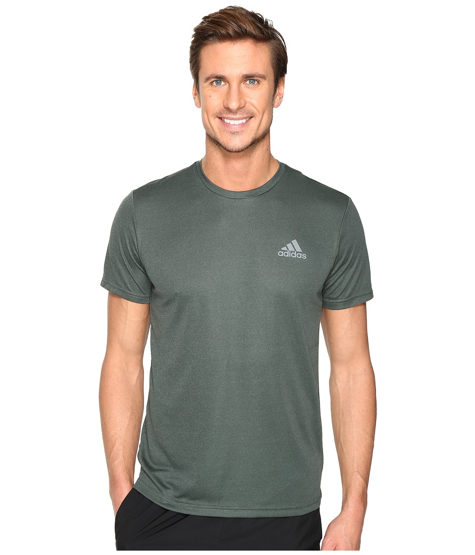 adidas Essential Tech Crew Tee (Utility Ivy F16/Trace Green S17) Men