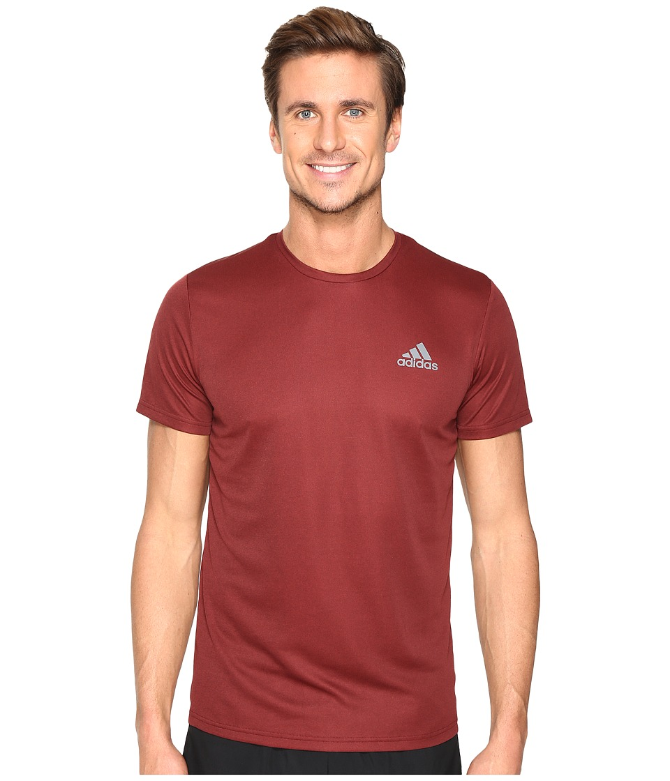 adidas Essential Tech Crew Tee (Maroon/Mystery Red S17) Men