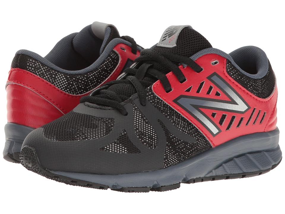 New Balance Kids KJ200v1 (Little Kid) (Black/Red) Boys Shoes
