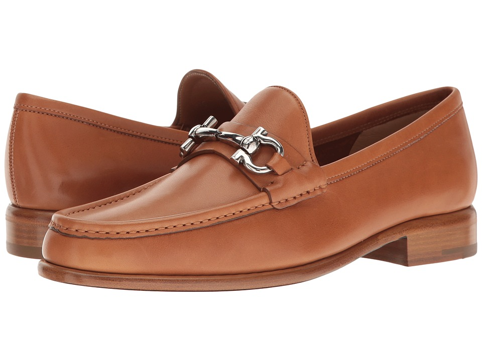 Salvatore Ferragamo Calfskin Loafer With Ganico Buckle (Sella Vitello Saddle Soft Leather) Women
