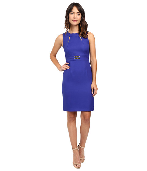 Tahari by ASL Sheath with Cut Outs and Gold Hardware