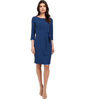 Tahari by ASL - Crepe Side-Tie 3/4 Sleeve Sheath