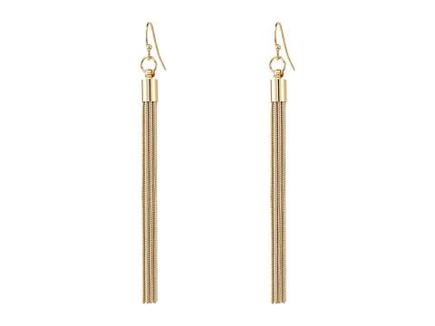 Kenneth Jay Lane Gold Chain Fishhook Earrings - Gold