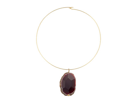 Kenneth Jay Lane Gold Wire with Natural Agate Stone Necklace