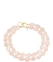 Kenneth Jay Lane - 2 Row Rose Quartz Bead Necklace