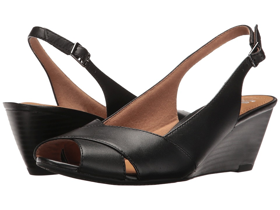 Clarks Brielle Kae (Black Leather) Women