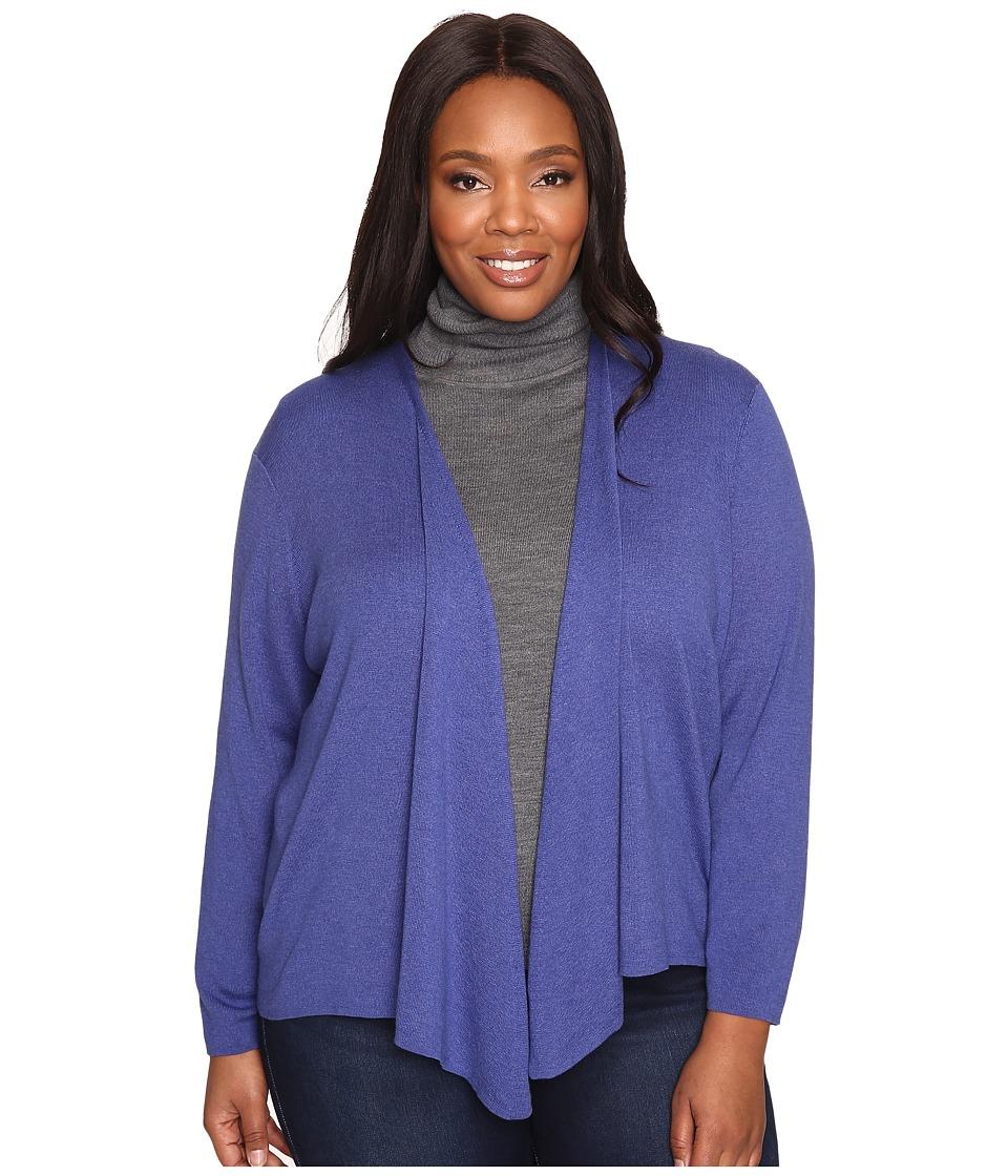 NIC+ZOE Plus Size 4-Way Cardy (Wild Blue) Women