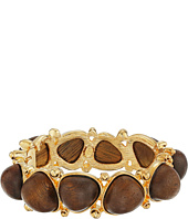 Kenneth Jay Lane - Gold with Dark Wood Cabochons Bangle