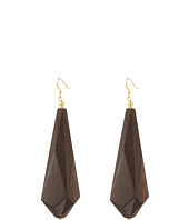 Kenneth Jay Lane - Dark Wood Drop Earrings