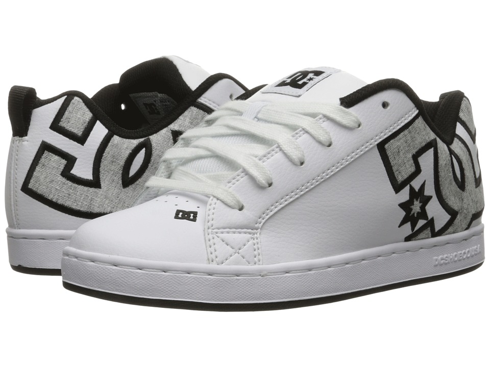 DC Court Graffik SE W (White/Charcoal) Women's Skate Shoes