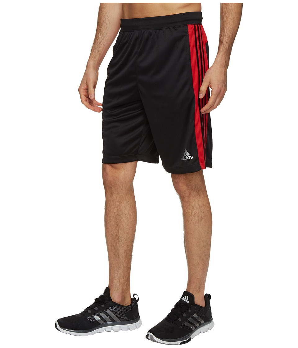 adidas Designed-2-Move 3-Stripes Shorts (Black/Scarlet) Men