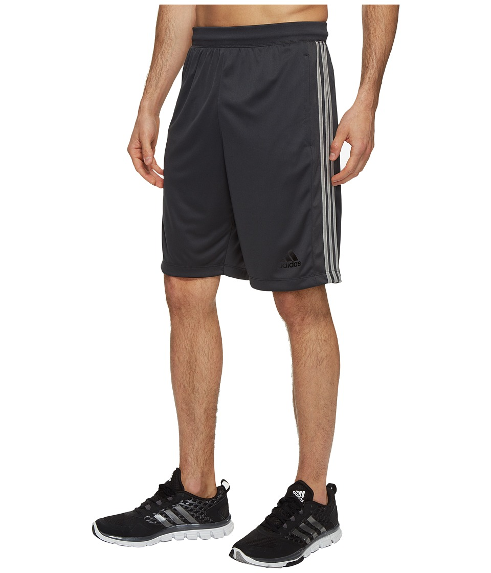 adidas Designed-2-Move 3-Stripes Shorts (Dark Grey/Medium Grey Heather Solid Grey) Men