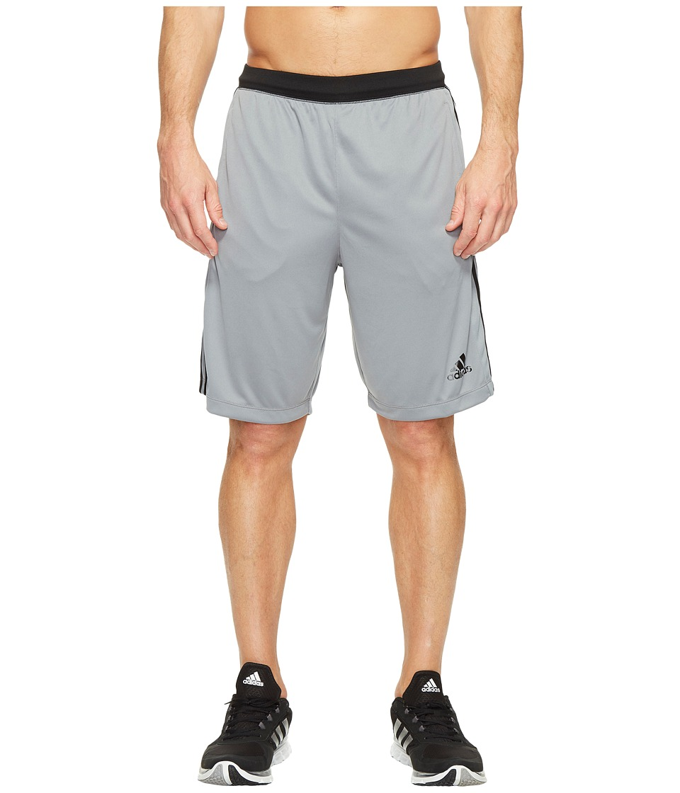 adidas Designed-2-Move 3-Stripes Shorts (Grey/Trace Grey S17) Men