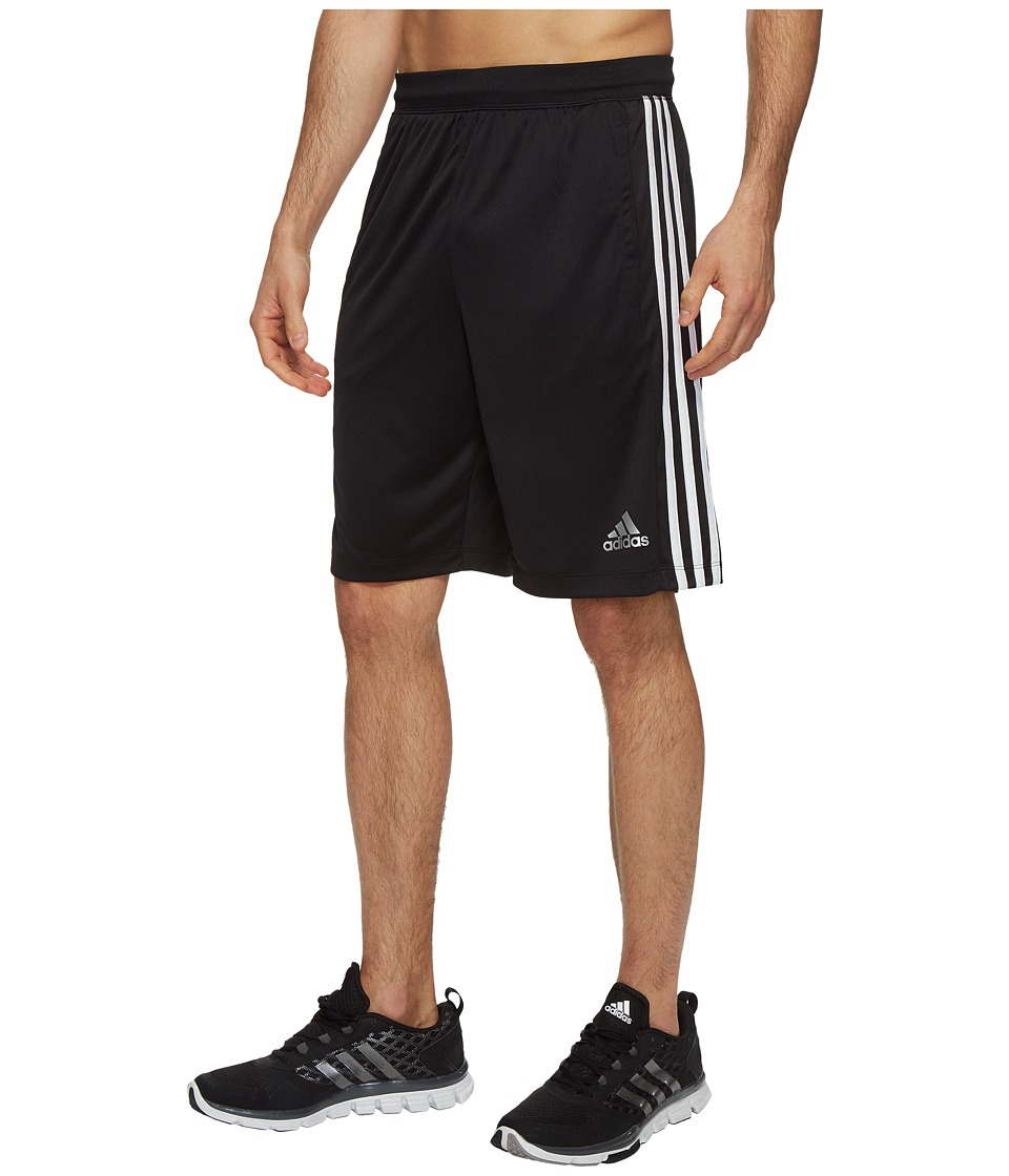 adidas Designed-2-Move 3-Stripes Shorts (Black/White) Men
