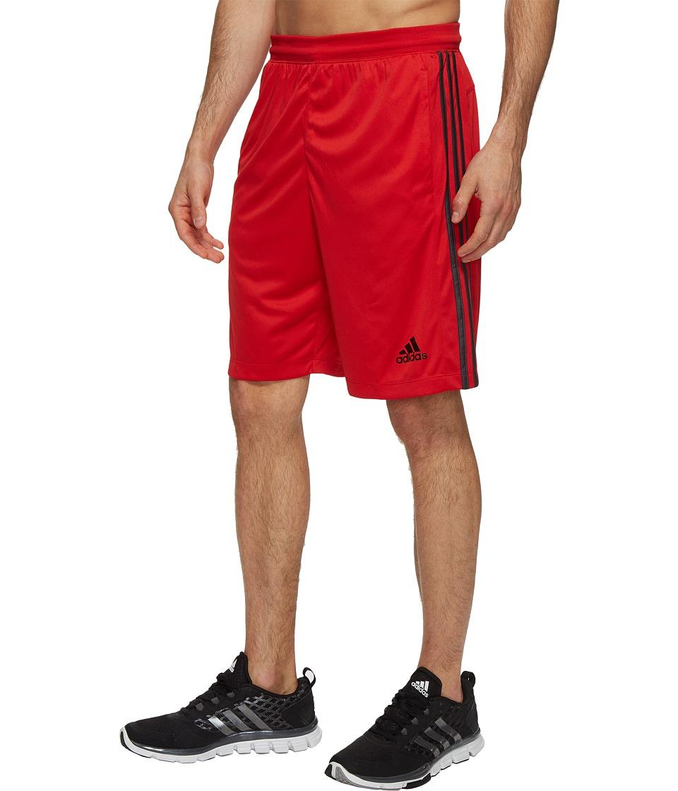 adidas Designed-2-Move 3-Stripes Shorts (Scarlet/Utility Black F16) Men