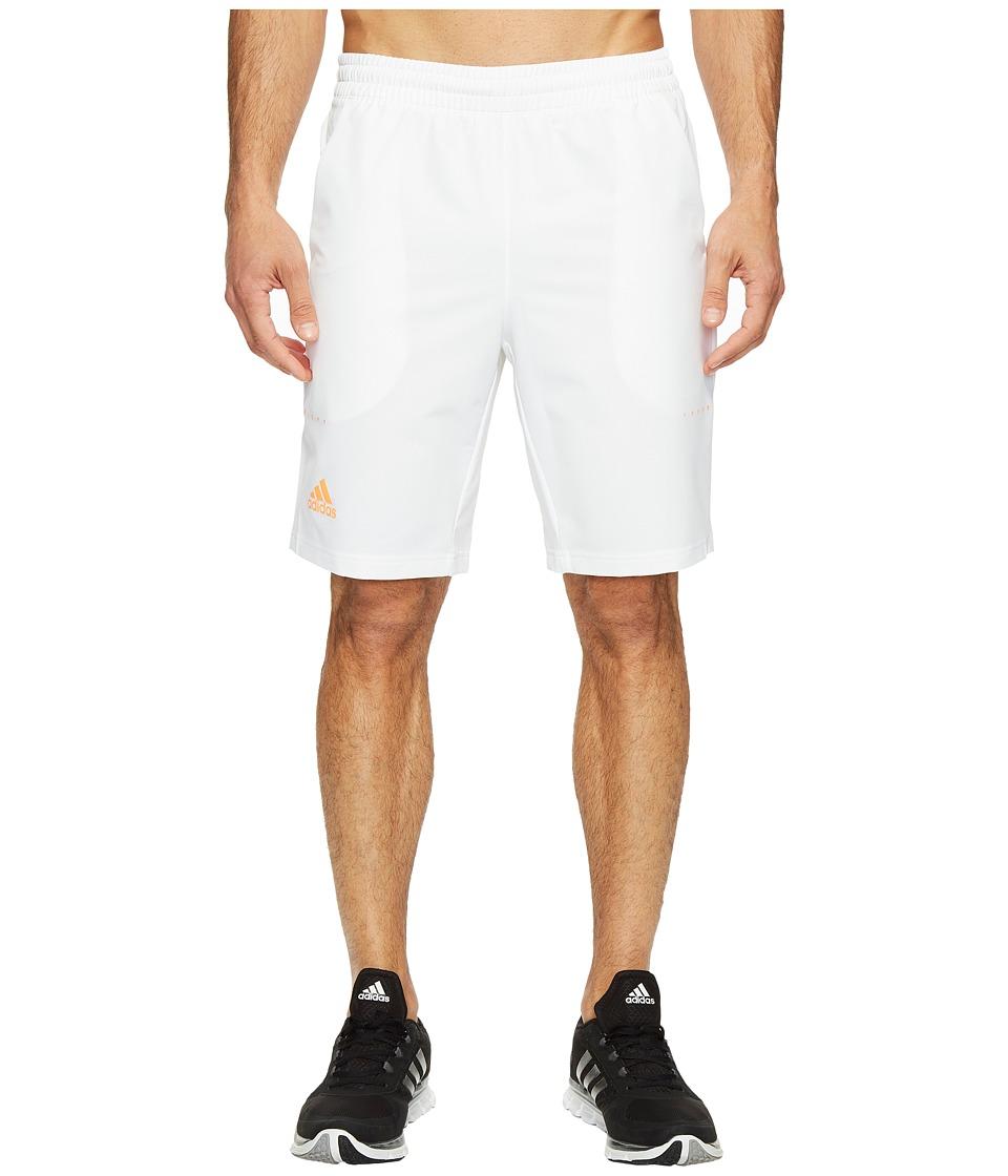adidas Barricade Bermuda Shorts (White/Glow Orange) Men
