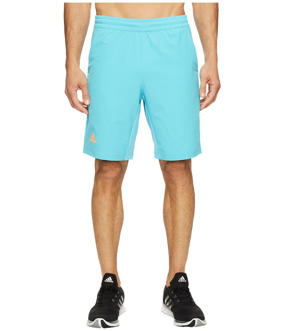 adidas Barricade Bermuda Shorts (Samba Blue/Glow Orange) Men