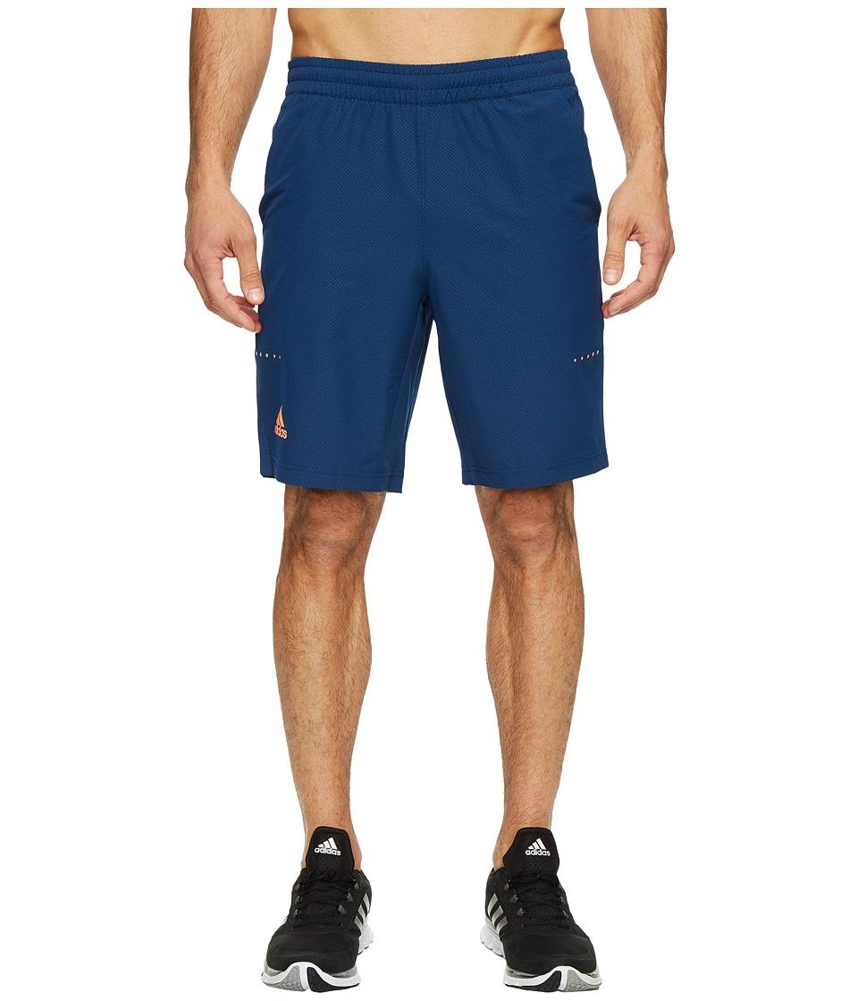 adidas Barricade Bermuda Shorts (Mystery Blue/Glow Orange) Men