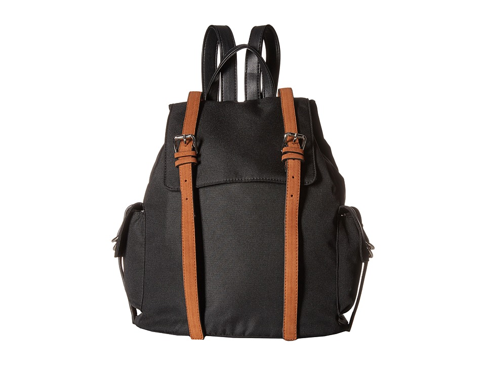 French Connection - Kyle Backpack (Black/Nutmeg) Backpack Bags
