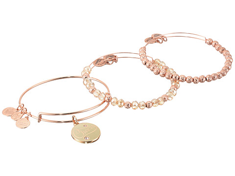 Alex and Ani Cheers Set of 3 Color Infusion Champagne - Rose