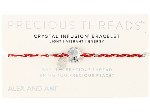 Alex and Ani Precious Threads Crystal Swarovski Crystal Sangria Braid - Rose