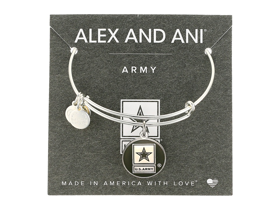 Alex and Ani - US Army (Shiny Silver) Bracelet