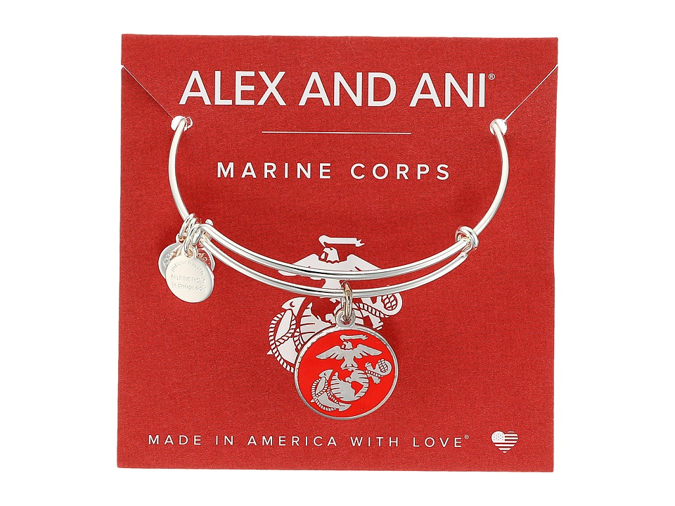Alex and Ani - US Marine Corps SS (Shiny Silver) Bracelet
