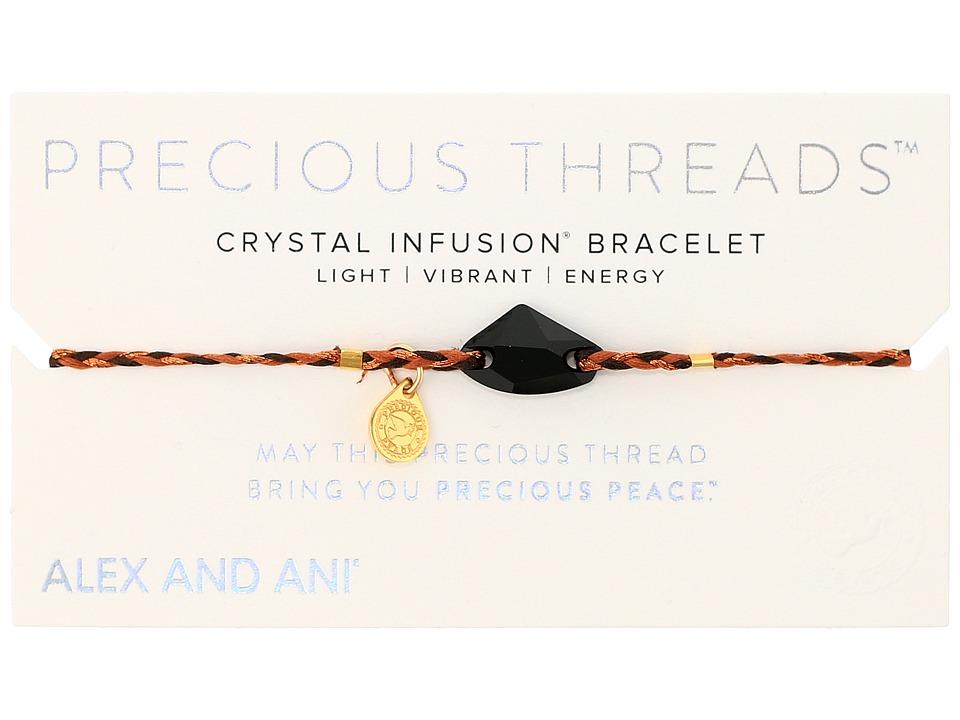 Alex and Ani - Precious Threads Jet Galactic Swarovski Crystal Harvest Moon Braid