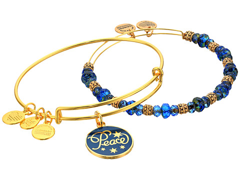Alex and Ani Peace Set of 2 Color Infusion Navy