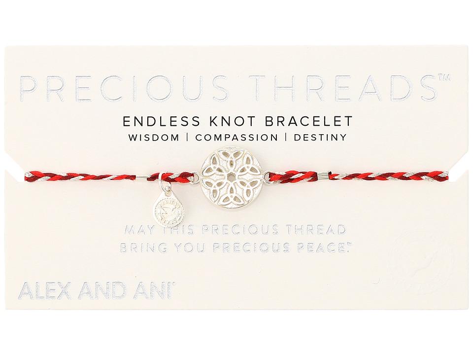 Alex and Ani - Precious Threads Endless Knot Sangria Braid