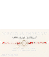 Alex and Ani - Precious Threads Endless Knot Sangria Braid