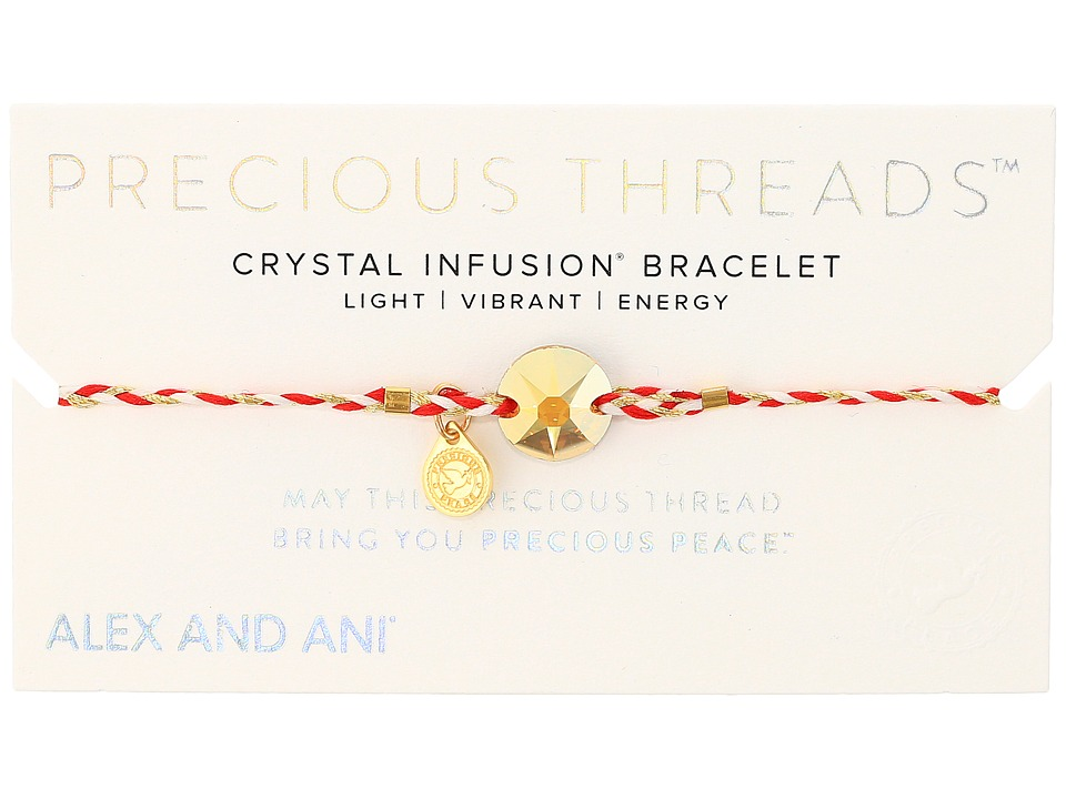 Alex and Ani - Precious Threads Metallic Sunshine Swarovski Crystal Royal Cardinal Braid